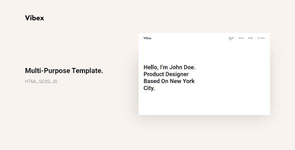 Vibex   Multi-purpose - Creative Agency, Personal Portfolio - Portfolio Creative