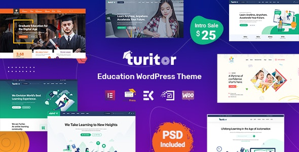 Turitor - Education WordPress Theme - Education WordPress