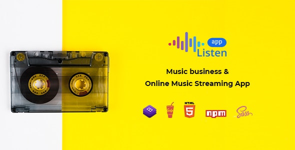 Listen - Online Music Streaming App - Music and Bands Entertainment