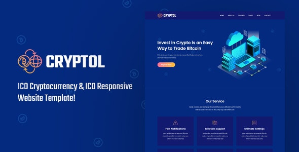 CrypTol - ICO Cryptocurrency & ICO Website Template - Technology Site Templates