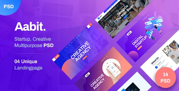 Aabit Startup & Multipurpose PSD Template - Business Corporate