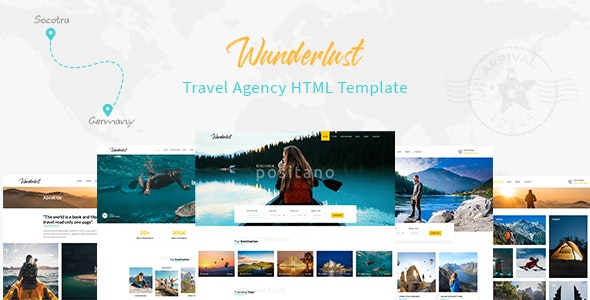 Wunderlust - Travel Tour HTML Template - Travel Retail