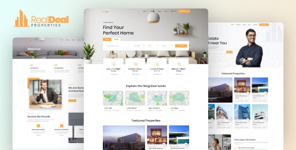 Realdeal – Responsive Real Estate HTML Template - Business Corporate