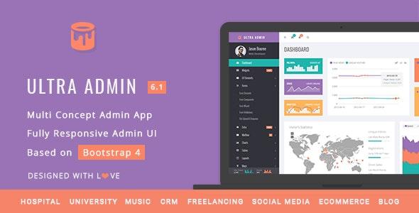 Ultra - Multi Purpose Admin Theme - Admin Templates Site Templates