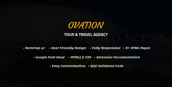 Ovation - Tour & Travel Agency Template - Travel Retail