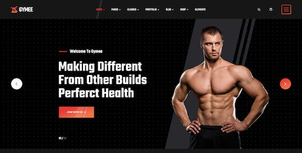 GYMEE - Fitness and Gym PSD Template