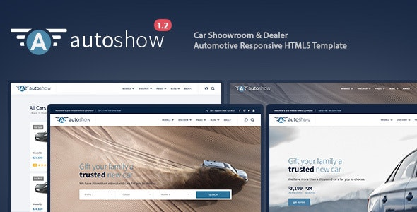 AutoShow - Auto Listing, Auto Dealer, Shoowroom & Automotive Responsive Template - Business Corporate