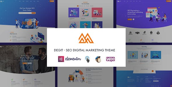 Degit - SEO Digital Marketing WordPress Theme