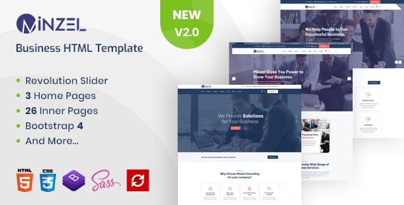 Minzel - Business Responsive Multipurpose HTML5 Template - Corporate Site Templates
