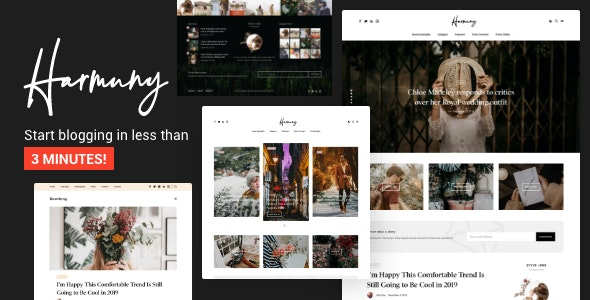 Harmuny - Modern WordPress Blog Theme - Personal Blog / Magazine