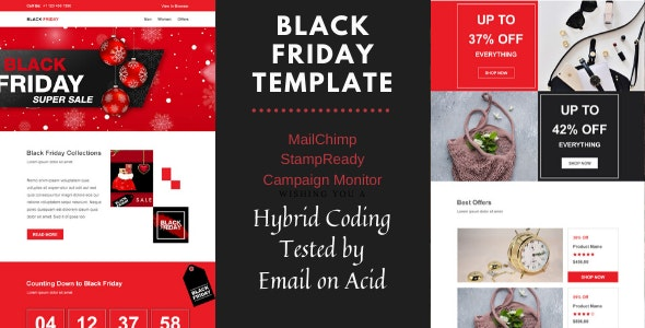 Black Friday - Multipurpose Responsive Email Template - Newsletters Email Templates