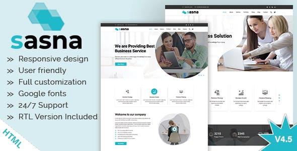 Sasna - Multipurpose Business HTML Template + RTL