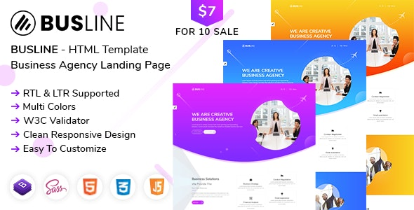BusLine - Business Landing Page HTML + RTL - Business Corporate
