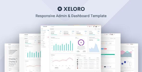 Xeloro - Admin & Dashboard Template - Admin Templates Site Templates