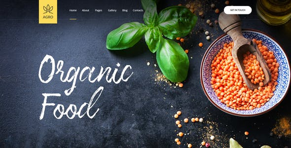 Agro - Agriculture & Organic Food HTML Template Pack