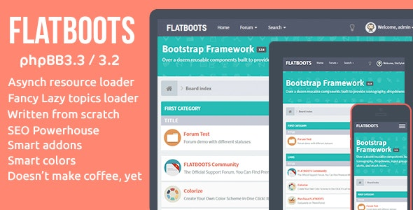FLATBOOTS | High-Performance and Modern Theme For phpBB - PhpBB Forums