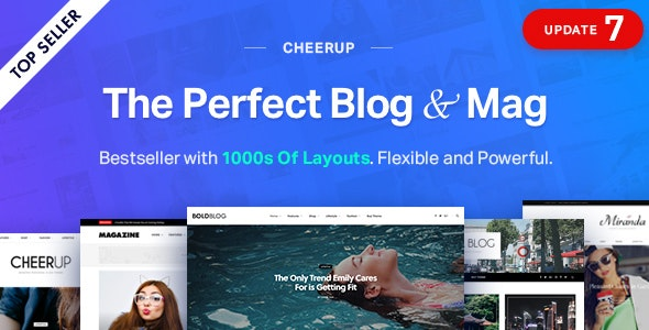 CheerUp - Blog/Magazine & Travel WordPress - Personal Blog / Magazine