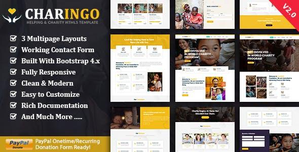 Charingo - Nonprofit Charity HTML