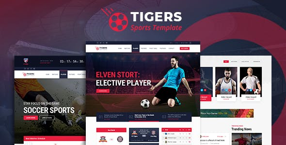 Tigers - Soccer Sports HTML Template