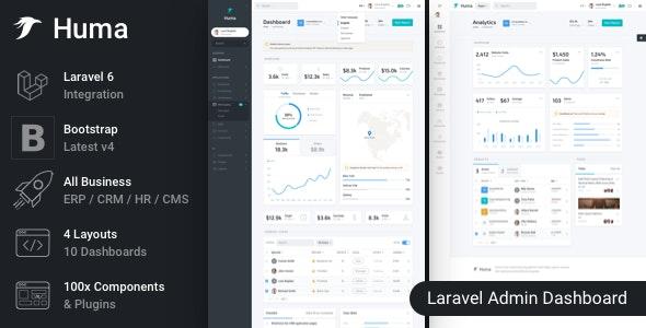 Huma - Laravel Admin Dashboard Template - Admin Templates Site Templates