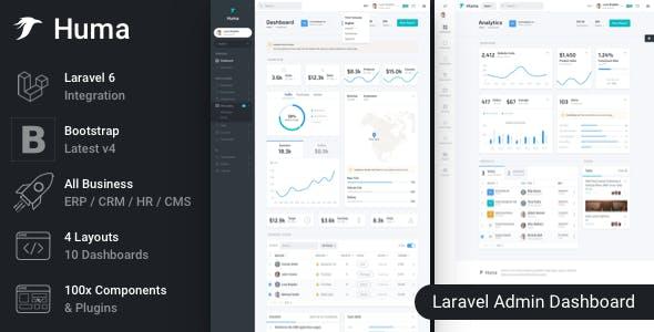 Huma - Laravel Admin Dashboard Template