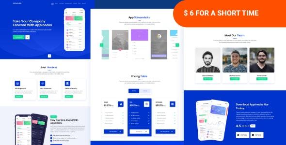Appinocks - App Landing Page Template - Software Technology