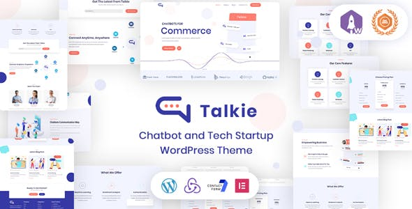 Download Talkie - Chatbot and Tech Startup WordPress Theme