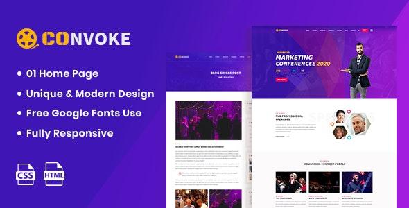 Convoke - Event & Conference HTML5 Template - Events Entertainment