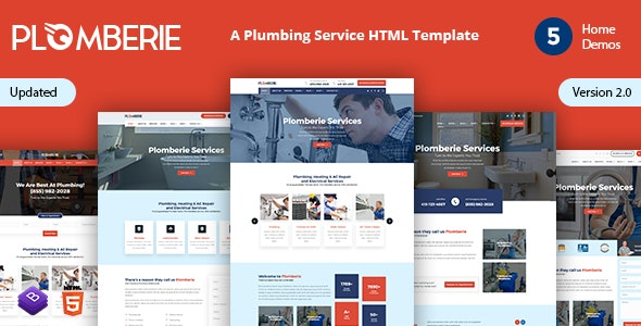 Plomberie | Plumber and Construction HTML Template - Business Corporate