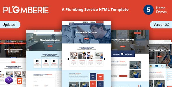 Plomberie | Plumber and Construction HTML Template