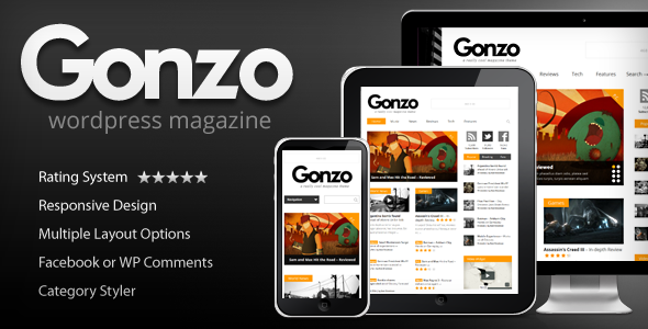 Gonzo -  Clean, Responsive WP Magazine - Blog / Magazine WordPress