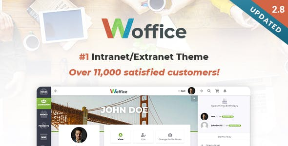 Download Woffice - Intranet/Extranet WordPress Theme
