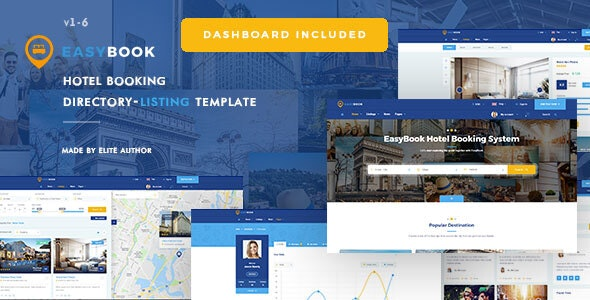 Easybook - Hotel Booking Directory Listing Template - Travel Retail