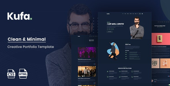 Kufa - Personal Portfolio Template - Portfolio Creative