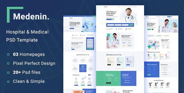 Medenin - Medical & Health PSD Template - Health & Beauty Retail