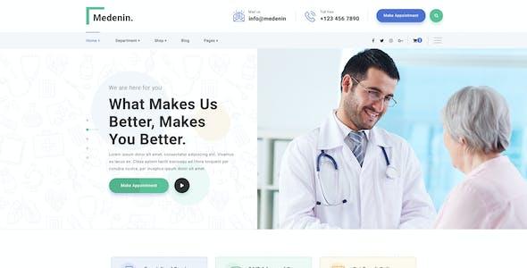 Medenin - Medical & Health PSD Template