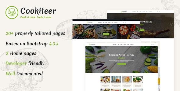 Cookiteer - Food Blog HTML Template - Personal Site Templates