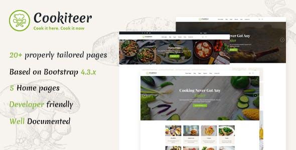 Cookiteer - Food Blog HTML Template