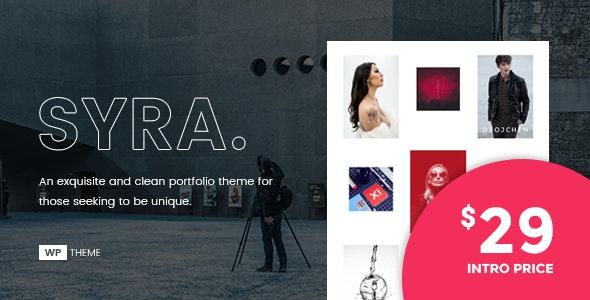Syra – A Minimal Showcase Portfolio WordPress Theme - Portfolio Creative
