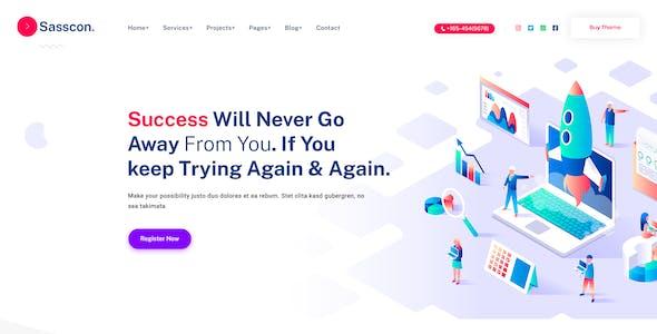 Sasscon | Digital Agency PSD Template