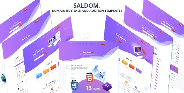 Saldom - Domain Sale And Auction HTML Templates - Hosting Technology