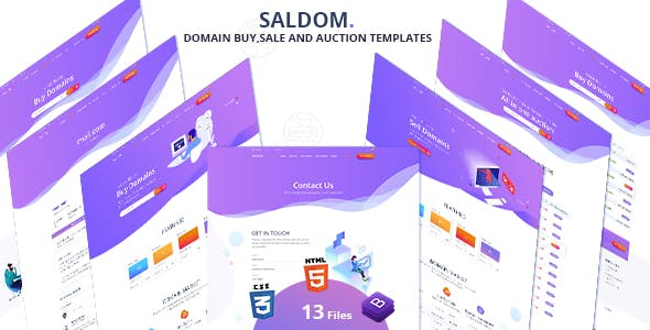 Saldom - Domain Sale And Auction HTML Templates