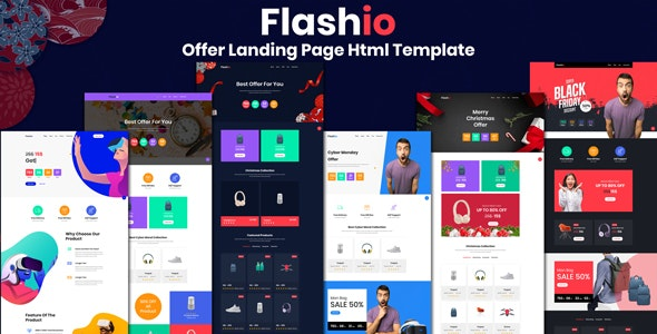 Flashio - Offer Landing Page HTML Template - Marketing Corporate