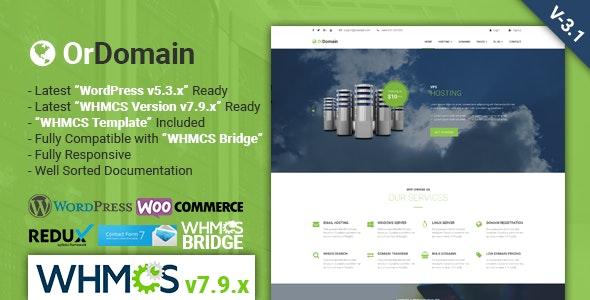 OrDomain Responsive WHMCS Hosting WordPress Theme