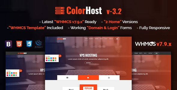 ColorHost | Responsive HTML5 Web Hosting and WHMCS Template - Hosting Technology