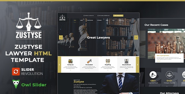 Zustyse - Lawyer & Attorney HTML Template - Corporate Site Templates