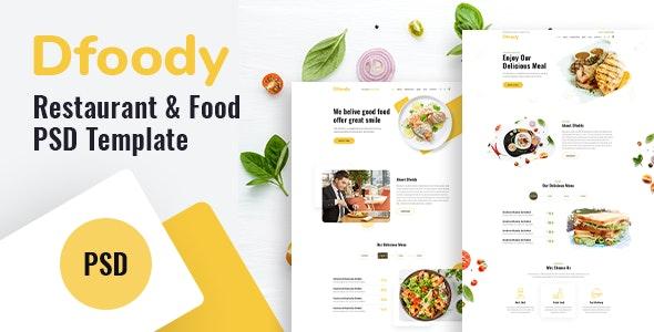 Dfoody - Restaurant PSD Template. - Restaurants & Cafes Entertainment