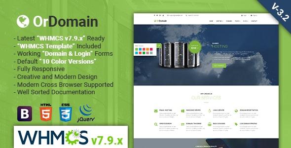 OrDomain   Responsive HTML5 WHMCS Hosting Template - Hosting Technology