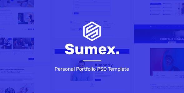 Sumex - Personal Portfolio PSD Template