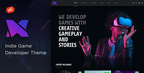 Download Xion - Indie Game Developer Theme